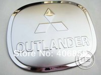 Wholesale Mitsubishi Outlander Cover - Wholesale- High quality stainless steel Fuel tank cover Trim For 2010-2011 Mitsubishi Outlander