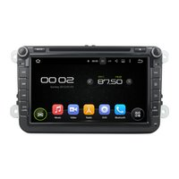 Wholesale 8 inch Car DVD Player GPS Navigation System Bluetooth for Magotan Caddy Passat with steering wheel control Support subwoofer