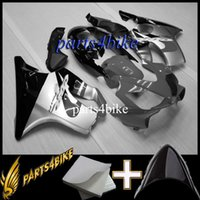 Wholesale Gray F4i Fairings - Windscreen + fairing white BLACK for honda CBR600 F4i 04 05 06 07 ABS Fairing CBR600F4I 2004 2005 2006 2007 Fairing