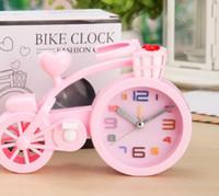 Thicker Candy Color Creative Bike Alarm Clock Student Gifts Birthday Crafts Digital Alarm Clock Table Desk Clocks