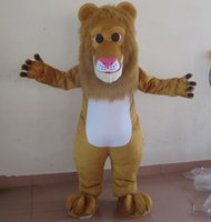 Wholesale Lion Mascots For Sale - SX0725 100% real picture brand new lion mascot costume with furry head for adult to wear for sale