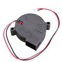 ingrosso dc ventilatori brushless ventilatori-Wholesale- 5015S 5V 0.1-0.3A Nero Brushless DC Ventola di raffreddamento 50x15mm E2shopping QJY99