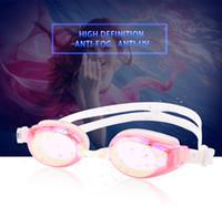 ingrosso bicchieri temperati blu-Occhiale da nuoto in silicone anti-appannamento di alta qualità Whale High Quality Unisex Nuovo 5 colori Vetro temperato