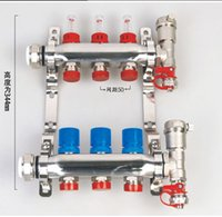 Wholesale Heat Underfloor Heating - 304 stainless steel underfloor heating manifold with flowmeter for underfloor heating system