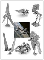 Wholesale 3d Puzzle Building Toy - Free Shipping 1 pcs 1:144 3D Metal model puzzle toys Star wars metal Building Kits 3d puzzle diy kit puzzles for children Toys