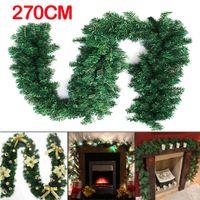 Wholesale Plastic Fireplace - 2.7m (9ft) Imperial Pine Christmas Garland Fireplace Wreath XMAS Decoration UK