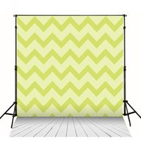 Douche De Lumière Numérique Pas Cher-Light Green Chevron Backdrops 5x7ft Photographie Back Drop Digital Printed Newborn Baby Shower Fond d'écran numérique Plancher en bois