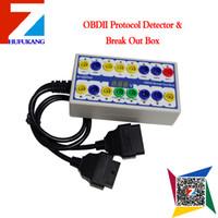Wholesale Box Breaks - Wholesale- OBD2tool OBD2 Protocol Detector Break Out Box 2 in 1 OBD II Break-out box protocol detector for key programming and chip tuning