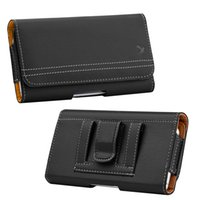Wholesale universal vintage - Waist Pouch Universal Suede Vintage Pouch Horizontal Case Cover with Card Slots for iPhone 8 Samsung Galaxy 5.5 inch Smartphone