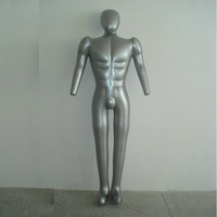 Wholesale Inflatable Male - Free Shipping! male Inflatable PVC mannequin full body with head & arms, mannequin inflated model clothing display props