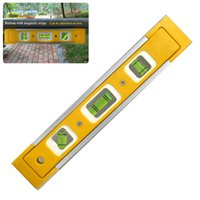Wholesale Bubble Level Tool - 16inch Lightweight Plastic Bubble Spirit Level Vial Triple Measure Ruler Tool Kit