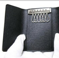 Wholesale Man Genuine Leather Clutch - Luxury leather AAA LOOU Key Wallets For Men And Women Fashion Designer Branded Top Quality Genuine Leather 100% 4 and 6 Keys Wallets