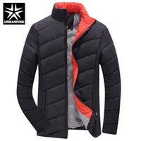 Wholesale Men S Down Jackets Cheap - Wholesale- Down Parkas Men Winter Jackets Thick Cotton Coats Big Size M-5XL Good Quality Man Casual Parkas Cheap Price Male Down Coats