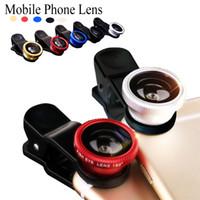 iphone мобильный объектив оптовых-Объектив рыбий глаз 3 в 1 мобильный телефон линзы рыба глаз +широкий угол +макро объектив камеры для iPhone 7 samsung Xiaomi бесплатная доставка DHL