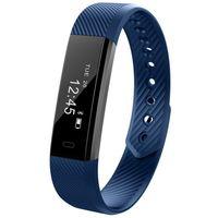Wholesale Wrist Vibrate - DHL free ID115 Smart Sport Bracelet Fitness Watch Activity Tracker Sleep Monitor Wristband Vibrating Alarm Clock Smartband pk mi band2