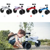 Wholesale Brand Children Balance Bikes Scooter Baby Walker Infant years Scooter No Foot Pedal Driving Bike Gift for Infant Three Wheels