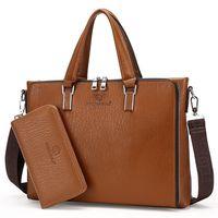 Wholesale File Key - Wholesale- 2016 counter new men's fashion leisure package trendy cool fashion handbag single diagonal cross file package computer briefcase