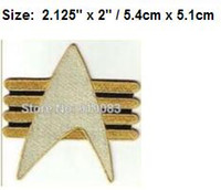 """Wholesale Future Tv - 2"""" MINI Star Trek Future Imperfect Communicator Isignia TV movie Series fancy Embroidered sew on iron on patch applique dropship"""