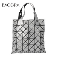 Wholesale Bag Lady Paint - Wholesale- Fashion Handbags Laser Geometric Diamond Shape Sliver Paint Patchwork Tote Women Shoulder Bao Bao Ladies Bag Sacoche Bolso Mujer