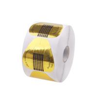 Wholesale U Shaped Acrylic Nails - Wholesale- 100pcs 1Roll U-shaped Nail Art Acrylic UV Gel Tips Extension Self-adhesive Forms #81835