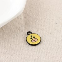 Wholesale Wholesale Cartoon Character - Free Shipping 20PCS LOT Zinc Alloy Cartoon Character Lovely Yellow Duck Enamel Charm Pendant 14*19mm For Necklace Bracelet DIY Accessories