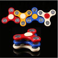 brinquedos giratórios presentes venda por atacado-MINI Mão Spinner Fingertips Dedos Espirais Fidget Spinner Brinquedo EDC Mão Spinner Acrílico De Plástico Agita Brinquedos de Ansiedade Gyro Presente para As Crianças