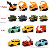 Wholesale Large Truck Toy - Mini Magic Pen Inductive Fangle Vechicle Toy Children's Car Truck Tank Car Toy Factory Direct Large Stock free shipping