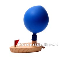 Wholesale Toy Boat Bath Water - Wholesale- 2016 New Arrival Baby Schylling Balloon Powered Driven Water Boat Classic Toys Swimming Bath Toy Educational Early Development