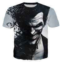 одежда для мужчин оптовых-Wholesale- Suicide Squad Womens Mens  Quinn The Joker T Shirts Man 3D T Shirt Black Red Short Sleeve Clothes