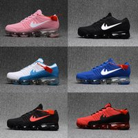 Wholesale Red Light Products - High quality New Running Shoes Air Cushion 2018 Men Women Vapormax Product Hot Sale Breathable Sports Shoes Sneaker US 7-12 Free shipping