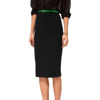 Wholesale Denim Tube - Summer 2016 Fashion Women Ladies High Waist Midi Bodycon Slim Pencel Tube Stretch Cotton Blends Pencil Skirt Clothing R2