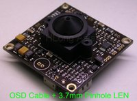 """Wholesale Super Effio - 3.7mm LEN WDR Sony 1 3"""" ICX662 663 Super HAD II CCD Effio-V chipset CCTV camera module board with OSD cable"""