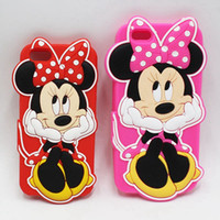 Wholesale Iphone Cases For Girls 3d - 3D Cute Minnie Mouse Case for iPhone 5 5S 6 6S 7 Plus Funny Cartoon Case For Samsung Galaxy J1 J3 J5 J7 Grand Prime Soft Silicone Cover Girl