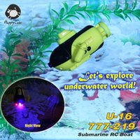 Wholesale Brushless Motor For Boat - Wholesale-2016 new Submarine ST Model 4ch super mini rc boat JG 777-219 radio control ship wholesale best toys for children
