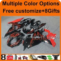 Wholesale Suzuki Motor Cover - 8Gifts+Tank cover GSXR1000 2009 2010 2011 2012 2013 2014 2015 2016 red flames GSX-R1000 09-16 K9 motor Fairing for Suzuki cover