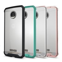 Wholesale Droid Cases - For Moto Z  Z Droid Case Clear Hybrid Bumper Shockproof Back Cover Phone Accessories For Moto Z  Z Droid \Z Force Z Maxx\E3