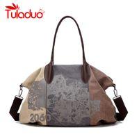 Wholesale wholesale designer hand bags - Wholesale- Bolsas Femininas 2017 Designer Handbags High Quality Casual Canvas Bag Women Handbags Sac Femme Tote Ladies Shoulder Hand Bag