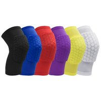 Rembourrage De Genou Volleyball Pas Cher-Honeycomb Sports Safety Tapes Volleyball football Basketball Kneepad Compression Chaussettes Knee Wraps Brace Protection Knee Pads pour hommes