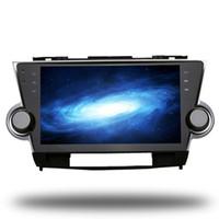 sistema de navegação toyota gps venda por atacado-Para Toyota Highlander Kluger Android 6.0 Octa Núcleo Autoradio Rádio Do Carro de Navegação GPS Estéreo Multimídia Sistema de Mídia Nav Sat NO DVD