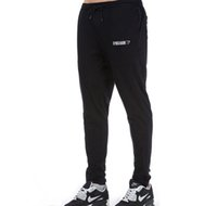 Wholesale Training Sweatpants - 2017 New Black Gray Mens Joggers Sport Fitness Training Running Jogging Pants Men Brand Gymshark Bottoms Bodybuilding Sweatpants Plus Size