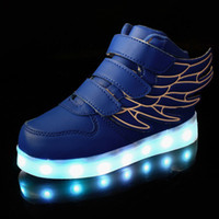 Wholesale Flash Hot Shoe - Hot LED Shoes light colorful Flashing with USB Charge Unisex Party and Sport Casual Shoes for Kid