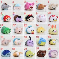 Wholesale Cinderalla Doll - 10pcs lot Mini Lovely TSUM TSUM toy Animal plush Doll Baby toys Alice Cinderalla Snow white keychain pendant free shipping