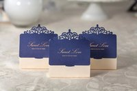 Wholesale New Style Wedding Candy Box - Blue western style wedding favor candy boxes CB502