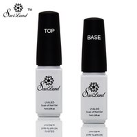 Wholesale Cleaner Polishing - Wholesale-Saviland 2pcs Non-cleaning Base and Tpp Coat for UV Gel Polish Top Coat Top it off Nail Lacquer Foundation Nails Glue