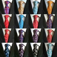 Wholesale 8cm Ties Dotted - High Quality 8cm Men Ties Fashion Classic Neckties Handmade Wedding Ties Silk Paisley Neck Tie Stripes Plaid Dots Business Ties 185 Styles