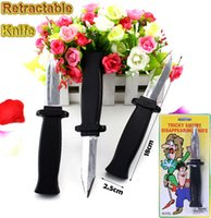 Joke toys Disappearing Knife Dagger Retractable Tricky Magic Toy Gag Plastic Knife Prop Party Accoutrements