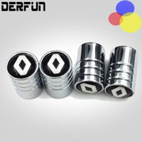 Wholesale Car Duster Case - Car styling Wheel Tire Valves Tyre Stem Air Caps Cover case For RENAULT duster megane 2 logan clio Stainless Steel