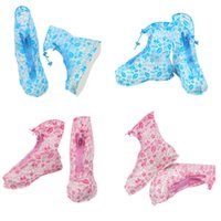 Wholesale overshoe boots - Waterproof PVC Reusable Rain Shoe Covers Anti-Slip Printed RainShoe Rain Boot Overshoes Waterproof Shoes Cover IC706