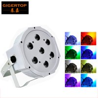 Wholesale master cool - TIPTOP Stage Light TP-P07B White Color Shell 7*12W RGBW Flat Led Par Light 4IN1 Color Mixing Power in out Silent Cooling Fan 4 8 Channels