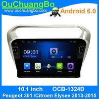 Wholesale Bluetooth For Car Radio - Ouchuangbo car audio gps navigation for Peugeot 301 support 3G WIFI radio bluetooth android 6.0 OS